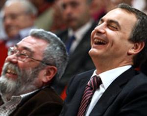 Zapatero y Candido Mendez