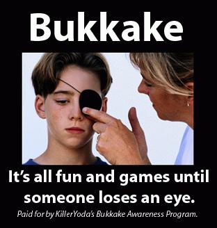 el bukkake puede ser peligroso para la integridad física
